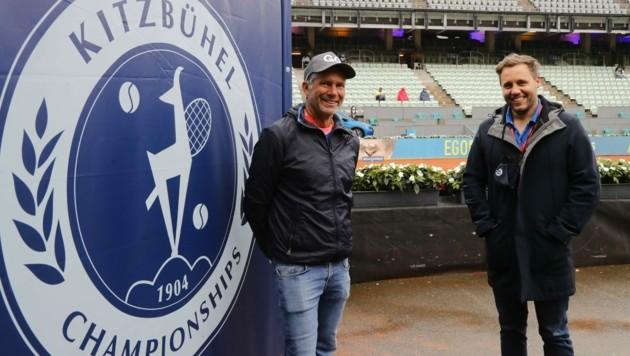 Veranstalter Markus Bodner und Geschäftsführer Florian Zinnagl (re.) freuen sich, dass das Turnier stattfinden kann. (Bild: Birbaumer Christof)