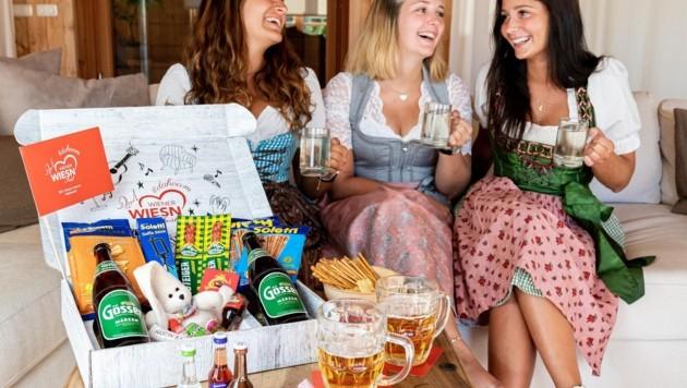 Schmankerln-Kistl für zu Hause: Dank dem original WIESN-Kistl kann man #dahoam feiern wie im Festzelt! (Bild: ONE VIEW - Sarah Fellner)