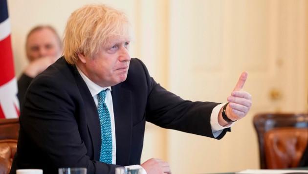 Der britische Premier Boris Johnson bleibt bei seiner harten Verhandlungstaktik. (Bild: AFP/Andrew PARSONS)