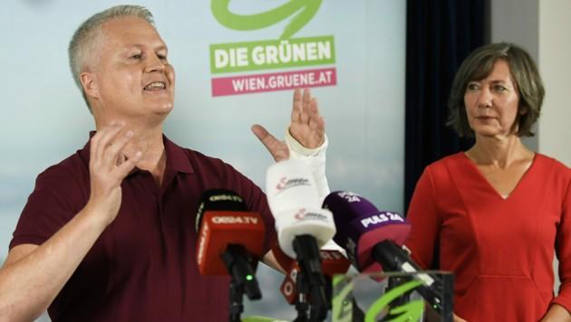 Der Grüne Klubobmann David Ellensohn und Vizebürgermeisterin Birgit Hebein