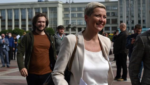 Die weißrussische Oppositionsführerin Maria Kolesnikowa (Bild: AFP)