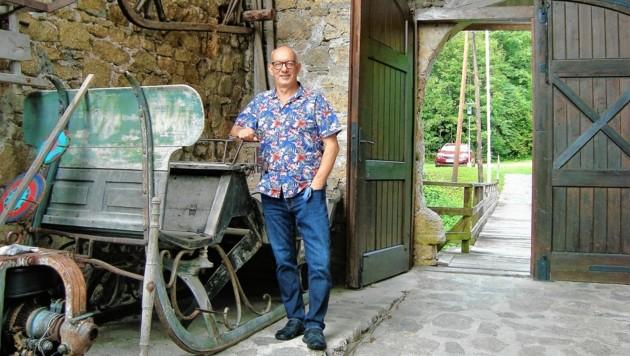 Burgvereins-Obmann Wolfgang Ulrich (Bild: Peter Bernthaler)