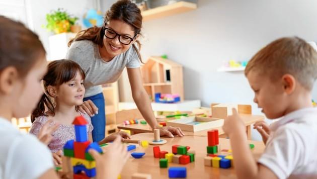 In vielen steirischen Gemeinden fehlt ein zufriedenstellendes Betreuungsangebot für Kinder. (Bild: ©lordn - stock.adobe.com)