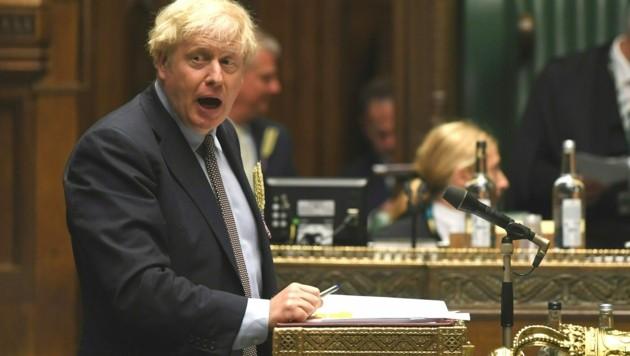 Großbritanniens Premier versucht mit einer nationalen Gesetzesinitiative den bereits unterzeichneten Brexit-Vertrag auszuhebeln. (Bild: AFP)