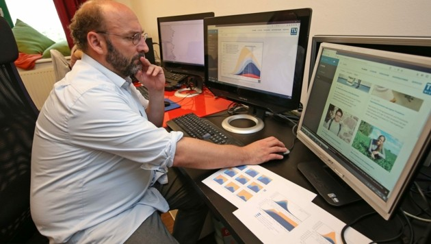 Der Wiener Simulationsforscher Dr. Niki Popper rechnet mit einem weiteren Anstieg der Corona-Fallzahlen. (Bild: Tomschi Peter)