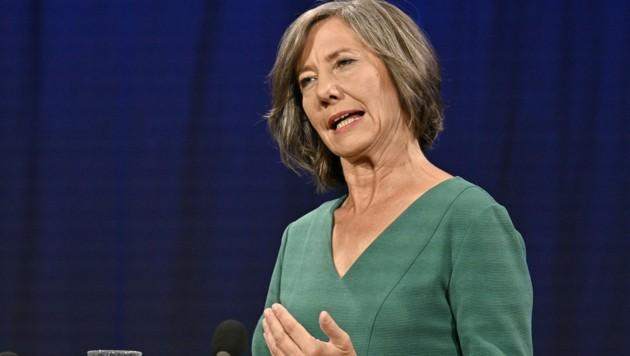 Die Grüne-Vizebürgermeisterin und Spitzenkandidatin Birgit Hebein (Bild: APA/HANS PUNZ)