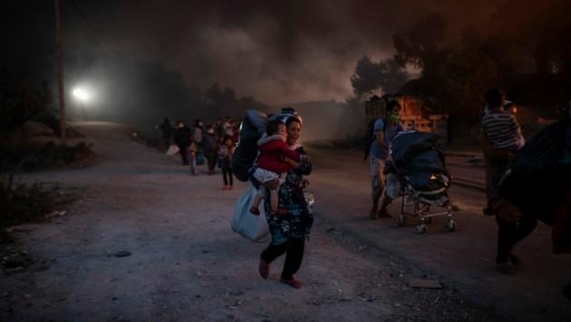 (Bild: AP/Petros Giannakouris)