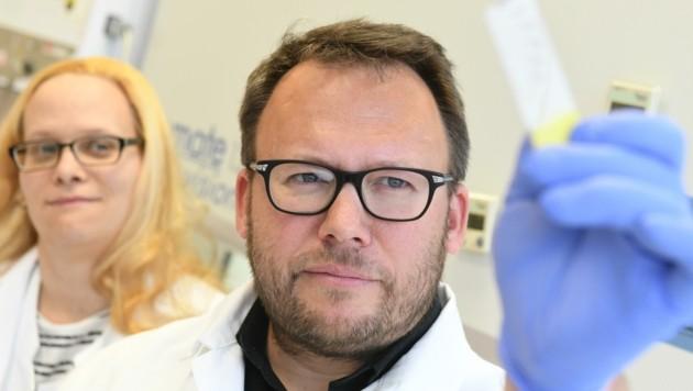 David Bernhard, JKU Linz: Die Auswertung der Covid-Gurgeltests übernehmen Universitäten, darunter Linz. (Bild: JKU)