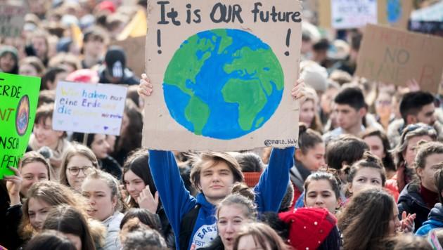 """""""Fridays for Future""""-Demo in Wien im September (Bild: APA/GEORG HOCHMUTH)"""