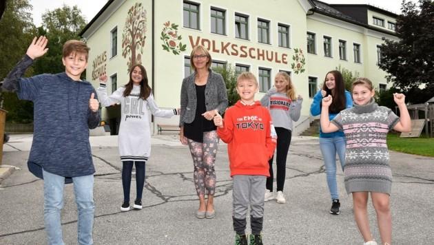 19 Schüler aus dem Lungau waren an der Volksschule St. Michael. (Bild: Holitzky Roland)