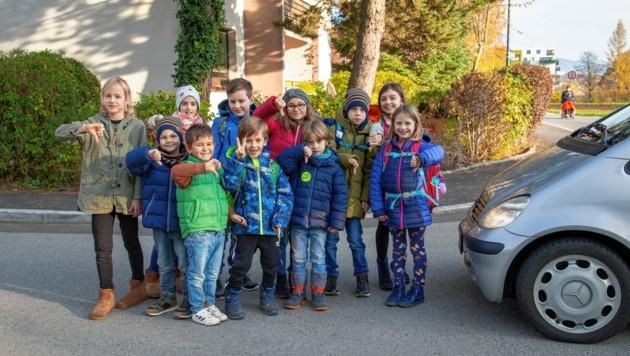 Seit zwei Wochen gibt es in Salzburg-Taxham einen neuen Schutzweg (Bild: Camera Suspicta / Susi Berger)