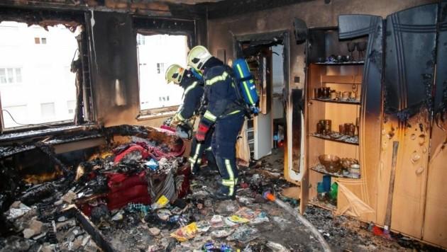 Ein Wohnungsbrand ist auch gefährlich für andere Bewohner. (Bild: Freiwillige Feuerwehr der Stadt)