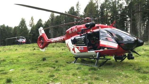 Sowohl RK1 als auch der Polizei-Hubschrauber standen im Einsatz. (Bild: ARA Flugrettung)