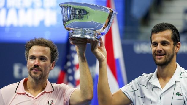 Bruno Soares (links) und Mate Pavic (rechts im Bild). (Bild: AFP/Getty/Al Bello)