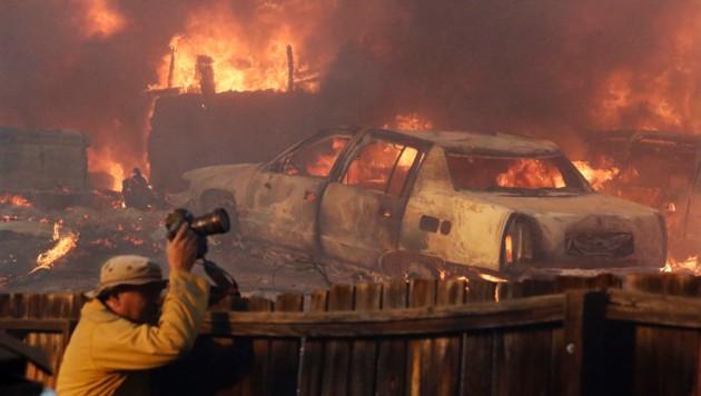 Das Feuer richtete in Los Angeles eine Verwüstung an. (Bild: AP)