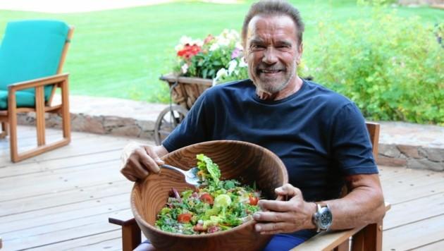 """Arnie ganz privat: """"Ich esse 80 Prozent weniger Fleisch als früher!"""""""