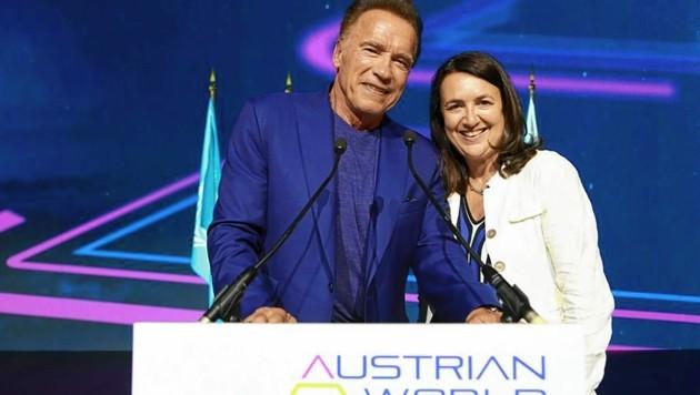 Arnold Schwarzenegger und Monika Langthaler laden zum Klimagipfel.