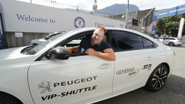 Andreas Oberacher (37), Chef des Fahrdienstes, darf in diesem Jahr nur mit einem Visier chauffieren. (Bild: Birbaumer Christof)