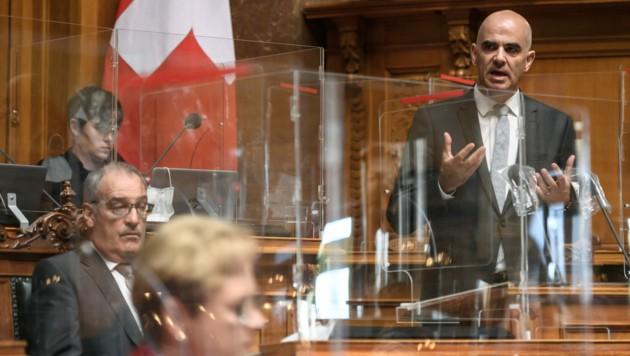 Der Schweizer Gesundheitsminister Alain Berset (Bild: AFP)