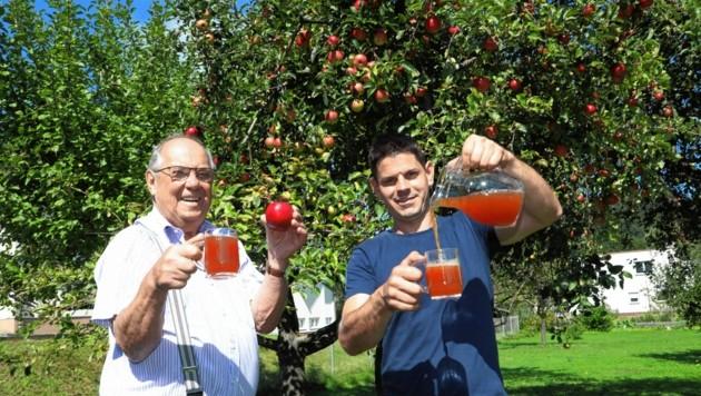 Heuer gibt es viele Äpfel - und umso mehr Apfelsaft. (Bild: Rojsek-Wiedergut Uta)