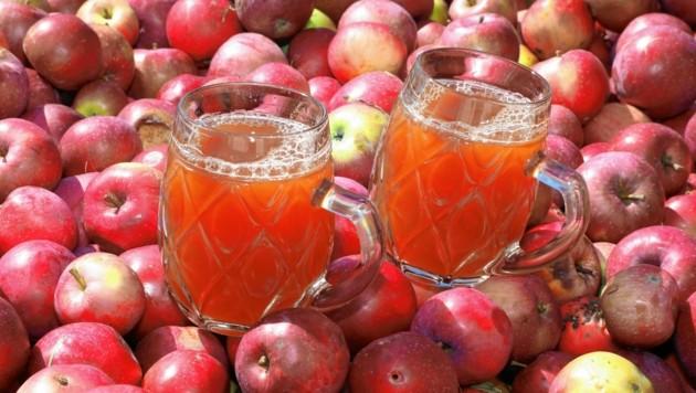 Frisch gepresster Apfelsaft - Prost! (Bild: Rojsek-Wiedergut Uta)