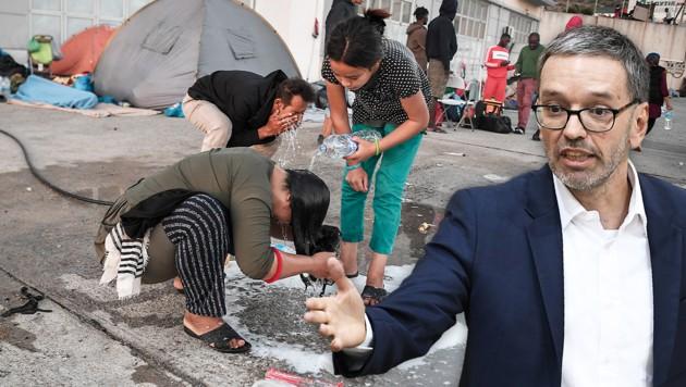 (Bild: APA/Robert Jäger, APA/AFP/Louisa Gouliamaki)