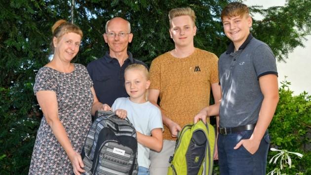 Die Familie Witzany-Voitleithner ist in St. Florian zu Hause (Bild: Dostal Harald)