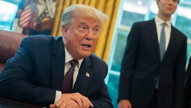 """Donald Trump nach Verkündung des """"historischen Abkommens"""" (Bild: AFP/ANDREW CABALLERO-REYNOLDS)"""