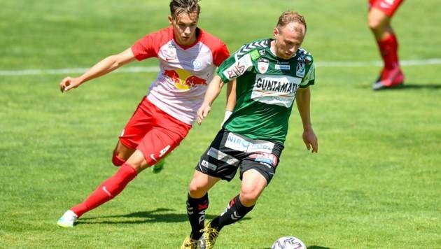 """In Liefering hat weiter Vorrang, Toptalente wie Amar Dedic (li.) an die """"großen Bullen"""" heranzuführen. (Bild: Dostal Harald)"""