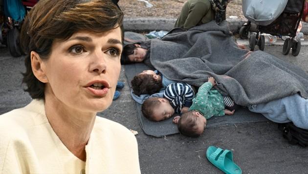 """""""Wer ein Menschenleben rettet, dem wird es angerechnet, als würde er die ganze Welt retten ..."""" - SPÖ-Chefin Pamela Rendi-Wagner zitierte unter anderem aus dem Talmud. (Bild: AFP/Louisa Gouliamaki, APA/Hans Punz, Krone KREATIV)"""