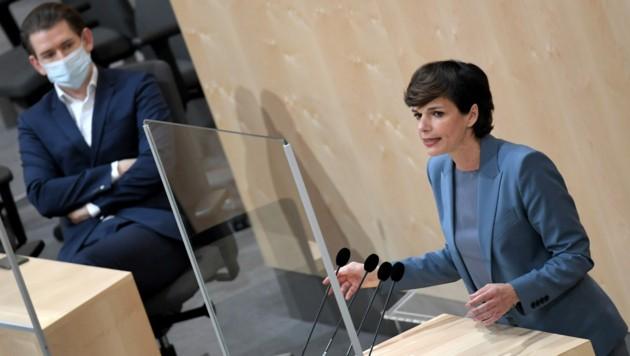 Bundeskanzler Sebastian Kurz (ÖVP) und SPÖ-Chefin Pamela Rendi-Wagner (Bild: APA/ROLAND SCHLAGER)