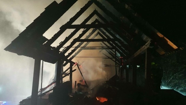 Verletzt wurde bei dem Feuer niemand. (Bild: FF St. Paul im Lavanttal)