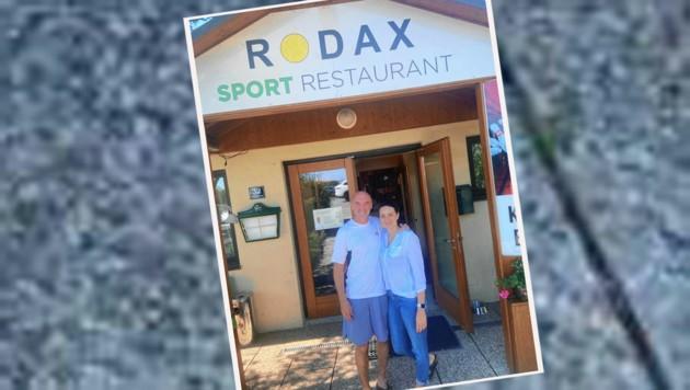 Fans von Dominic Thiem: Gerhard Rodax mit seiner Gattin Ana (Bild: Krone)