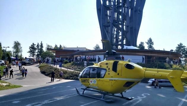Der 1000. Einsatz brachte den Notarzt-Hubschrauber C11 zum Pyramidenkogel. (Bild: zVg)