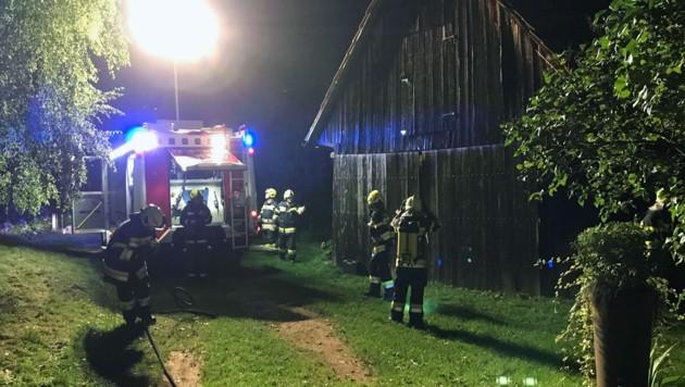 """Nach rund zwei Stunden konnten in Lannach """"Brand aus"""" gegeben werden. (Bild: FF Lannach)"""