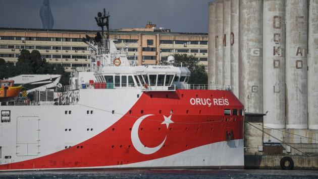 Das Erkundungsschiff Oruc Reis (Bild: AFP/Ozan KOSE)