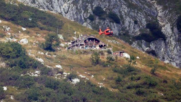 Der Tennengauer verletzte sich bei der Toni-Lenz-Hütte (Bild: Markus Leitner)