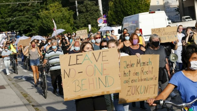 Mit Masken zur Demo: Proteste in Zeiten von Corona (Bild: Tschepp Markus)