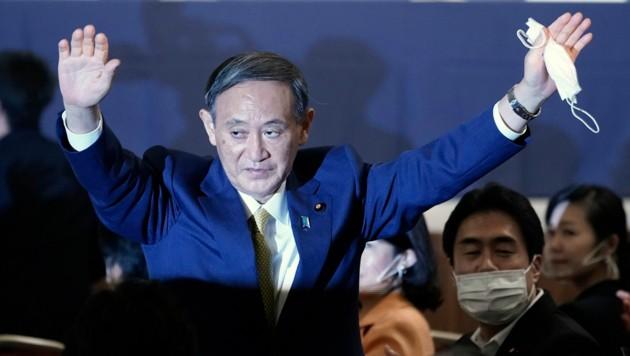 Der ehemalige Kabinettchef der Regierung, Yoshihide Suga, folgt dem aus gesundheitlichen Gründen zurückgetretenen Shinzo Abe als Ministerpräsident nach. (Bild: AFP/Eugene Hoshiko)
