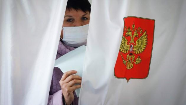 Die EU hat entschieden, einen Teil der russischen Regionalwahlergebnisse nicht anzuerkennen. (Bild: AP)