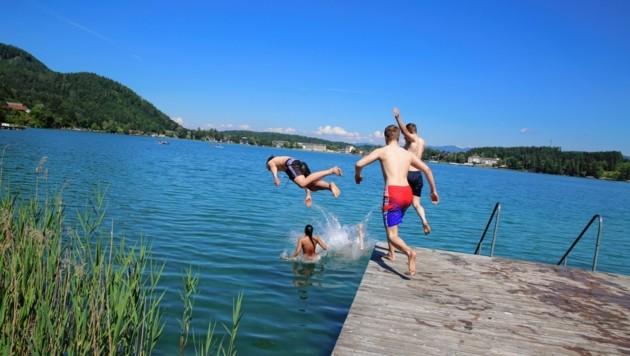 Die Immobilienplattform FindMyHome.at zeigt, was viele geahnt haben: Die Kärntner Seen (im Bild der Klopeiner See) sind sehr beliebte Wohnorte. (Bild: Evelyn HronekKamerawerk)