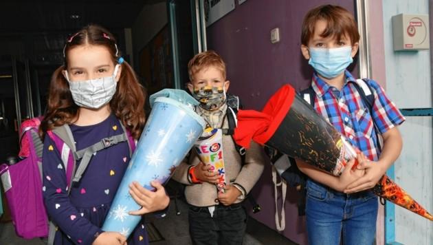 In Murau trugen die Schüler ebenfalls Masken.