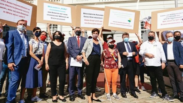 SPÖ-Chefin Pamela Rendi-Wagner unterstützte den ATB-Protest in Wien (Bild: Visnjic)