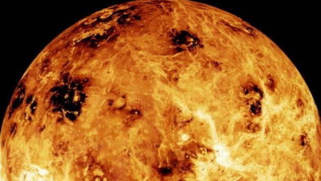 Die Venus ist als glühender Feuerball bekannt. Nun wollen Wissenschaftler ausgerechnet dort Hinweise auf Leben entdeckt haben. (Bild: AFP)
