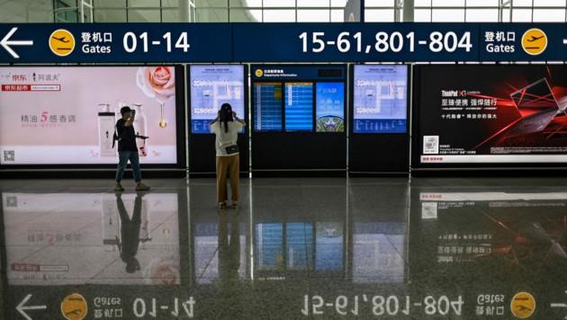 Der Flughafen in Wuhan (Bild: AFP)