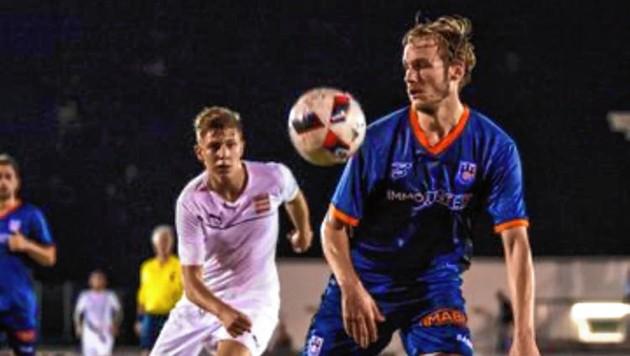 Torjäger Alex Knie (li.) traf in dieser Saison bereits viermal für die Neusiedler - der Star ist jedoch die Mannschaft. (Bild: Alex Knie)