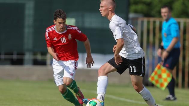 Ein Bild aus dem Jahr 2014: Renny Smith (rechts) beim U18-Länderspiel gegen Ungarn (Bild: GEPA pictures)