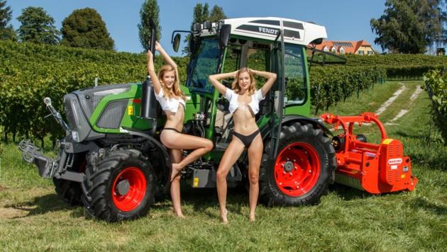 September: Victoria und Sandra aus Niederösterreich (Bild: Jungbauernkalender 2020)