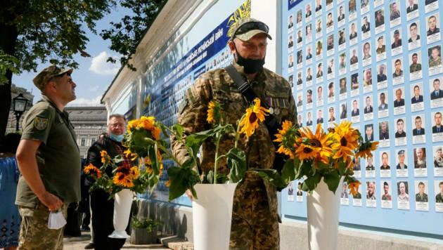 Gedenkstätte für die Tausenden Gefallenen in der Hauptstadt Kiew