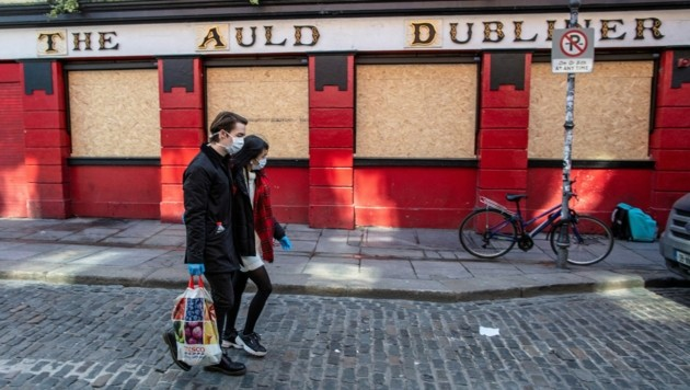 In der irischen Hauptstadt Dublin bleiben Pubs bis auf Weiteres geschlossen. (Bild: AFP )
